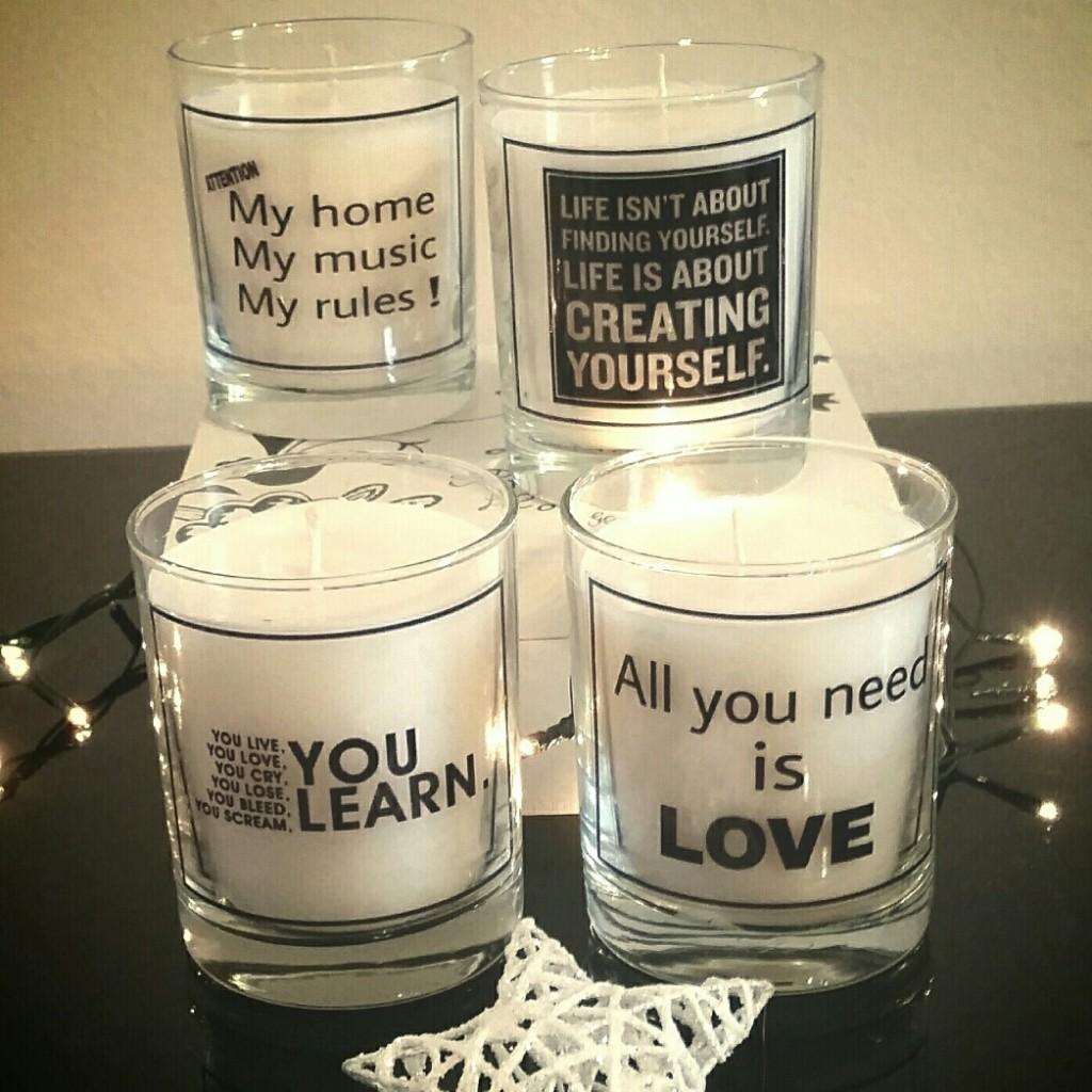 Luksuzne, mirisne sveće sa personalizovanim porukama.